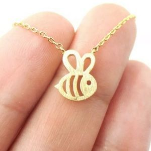 Gold Honey Bee Necklace. New!!!